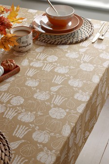 Wipe Clean Table Cloth With Linen