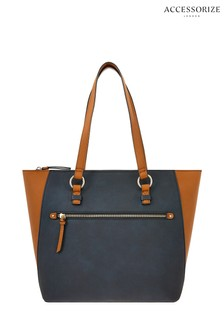 Accessorize Black Dolly Colourblock Tote Bag