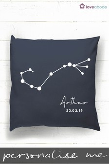 Personalised Zodiac Sign Cushion by Loveabode