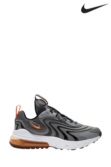Nike Air Max Grey 270 React Youth Trainers