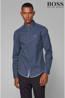 BOSS Blue Biado Long Sleeve Shirt
