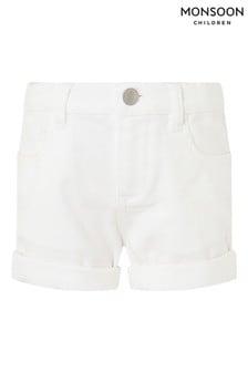 Monsoon White Denim Shorts