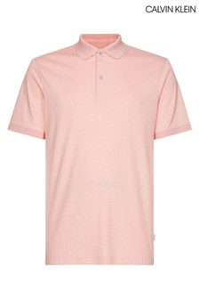 Calvin Klein Pink Soft Interlock Slim Fit Polo