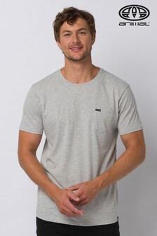 Animal Grey Marl Young Pocket T-Shirt