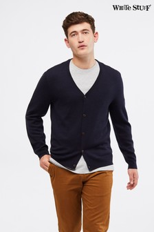 White Stuff Blue Morpeth Merino Cardigan
