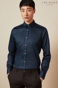 Ted Baker Blue Otta Stretch Cotton Shirt