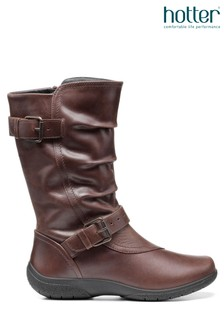 Hotter Sherbourne Zip Fastening Calf Boots