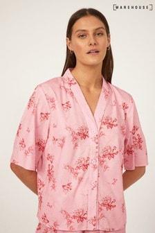 Warehouse Pink Floral Pyjama Shirt