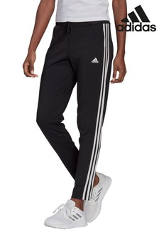 adidas Black Train 3 Stripe 7/8 Joggers