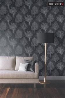 Arthouse Black Wonderland Wallpaper