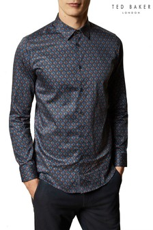 Ted Baker Blue Glacee Geo Print Shirt