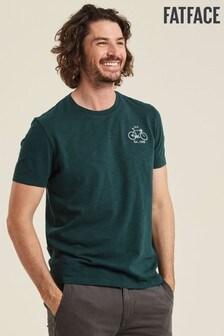 FatFace Green Road Cycling T-Shirt