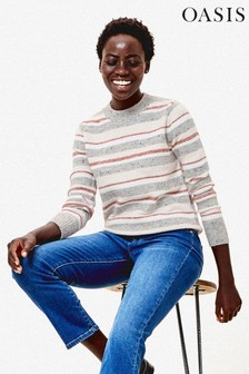 Oasis Natural Naomi Stripe Jumper
