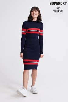 Superdry Hallie Ribbed Bodycon Dress