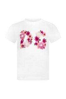 Dolce & Gabbana Kids Dolce & Gabbana Baby Girls Pink Cotton T-Shirt
