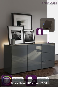Frank Olsen Smart LED Grey Sideboard