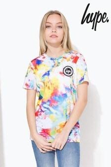 Hype. White Rainbow Brush T-Shirt