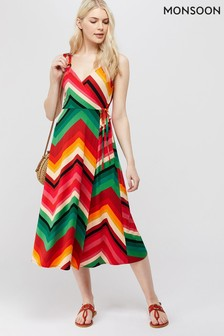 Monsoon Multi Ava Print Midi Dress