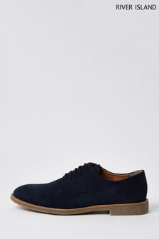 River Island Navy Casual Derby Shoes