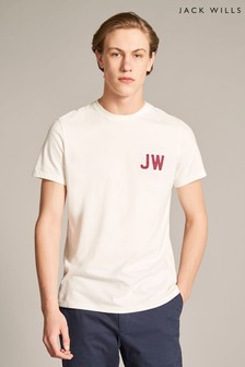 Jack Wills White Bedwyn Graphic T-Shirt