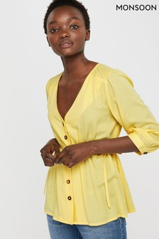 Monsoon Yellow Kori Plain Top
