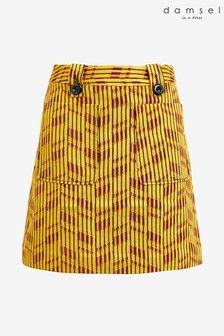 Damsel In A Dress Yellow Doria Textured Skirt