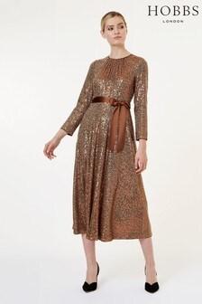 Hobbs Copper Salma Dress