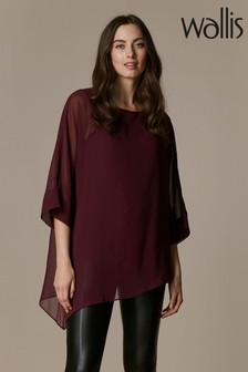 Wallis Berry Asymmetric Overlay Top