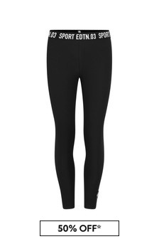 Girls Black Cotton Leggings