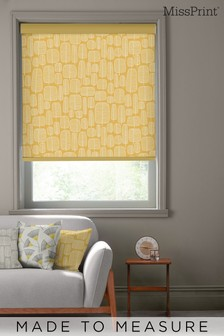 Little Trees Yellow Made To Measure Roller Blind by MissPrint