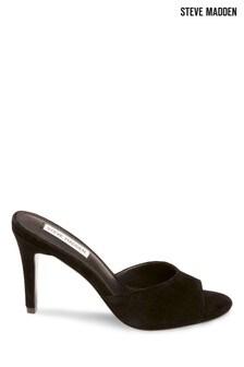 Steve Madden Black Mule Heel Sandals