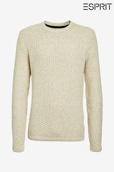 Esprit Natural Structured Crew Neck Sweater