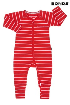 Bonds Red Ribbed Zip Wondersuit