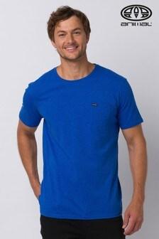 Animal Blue Marl Young Pocket T-Shirt