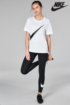 04b032f87 Nike Club Black Logo Legging