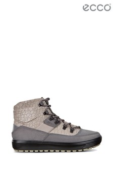 Ecco Grey Titanium And Rose Lace Casual Boot
