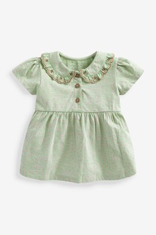 Organic Cotton Collared Blouse (3mths-7yrs)