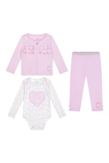 Baby Girls Pink Cotton Take Me Home Set