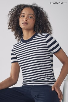 GANT Evening Blue Gant Navy Striped T-Shirt