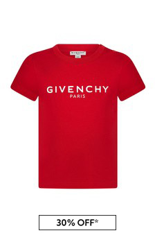Givenchy Kids Baby Boys Red Cotton T-Shirt