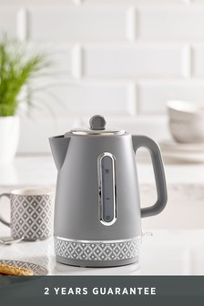 Geometric Grey Kettle