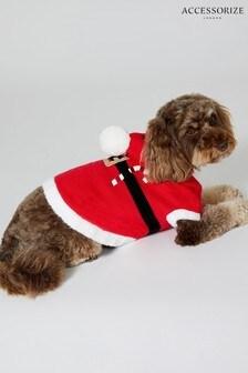 Červený pulóver so psom Santom Accessorize