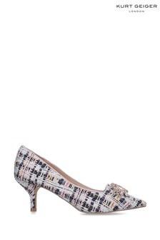 Kurt Geiger Ladies Pia Jewel Pink Fabric Heels