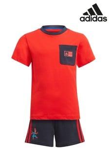 adidas Little Kids Spider-Man™ T-Shirt And Short Set