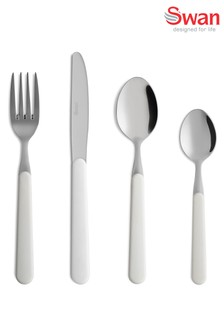 16 Piece Nordic White Cutlery Set by Swan