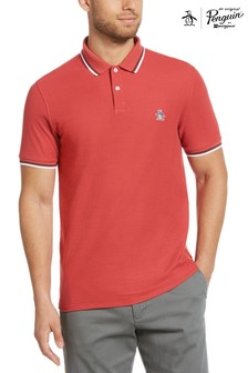 Original Penguin® Red Tipped Collar Logo Poloshirt