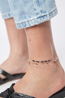 Monochrome Shell Effect Anklet