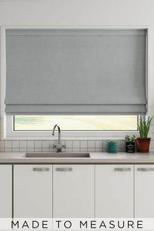 Made To Measure Grey Textured Roman Blind