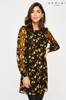 Damsel In A Dress Black Lovell Embroidered Dress