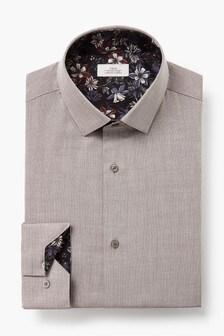 Regular Fit Single Cuff Trim Detail Shirt